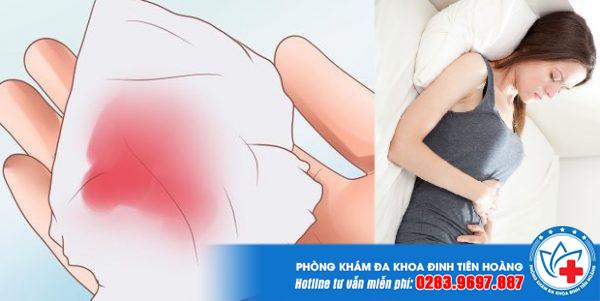 ra máu đỏ tươi sau khi hút thai