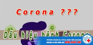 dấu hiệu bệnh corona